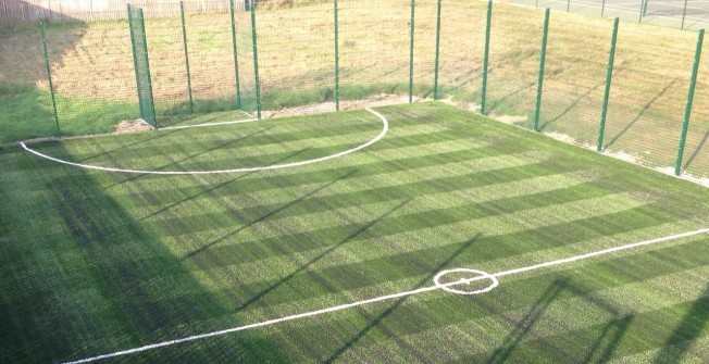 Artificial Football Pitch in Aberangell
