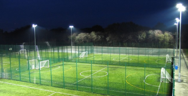 Artificial Football Pitch Dimensions in Amberley