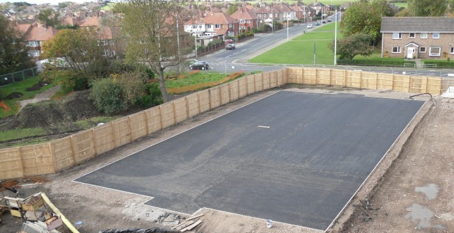 Football Surfacing Construction in Chaddesley Corbett