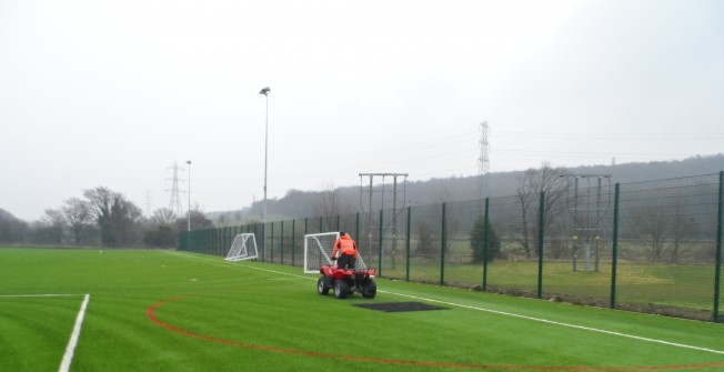 Synthetic Football Pitch Maintenance in Abersoch